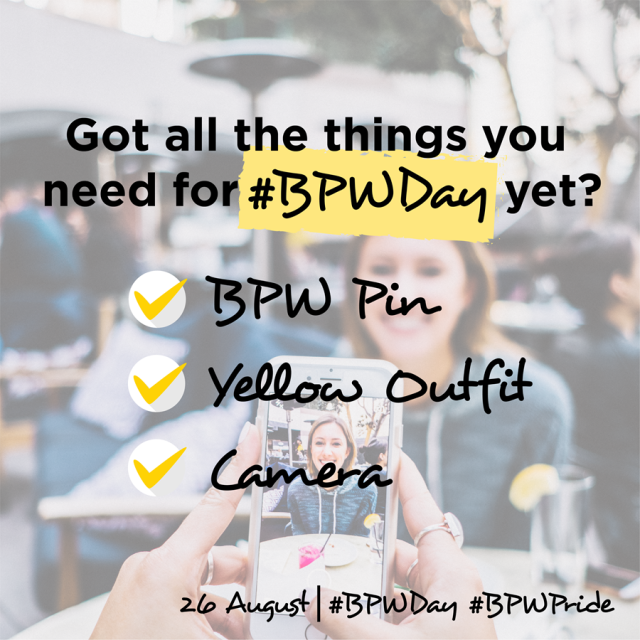 Tomorrow is the BIG DAY a.k.a. the 87th BPW Day!