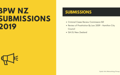 2019 – BPW NZ Submissions